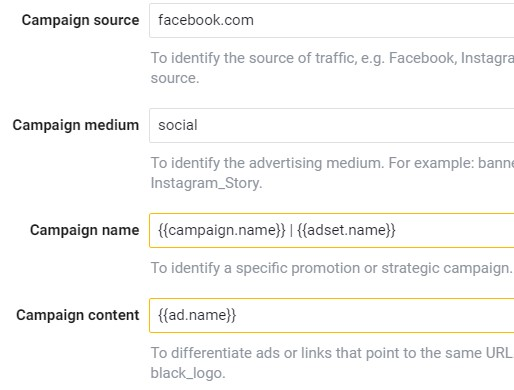 Automatické značení kampaní na Facebooku
