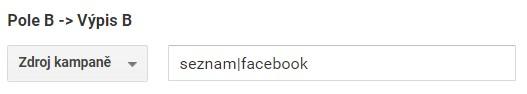 Změněná podmínka ve filtru pro Facebook
