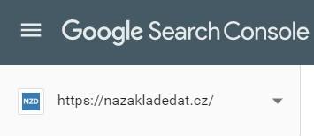 Výběr služby v Search Consoli
